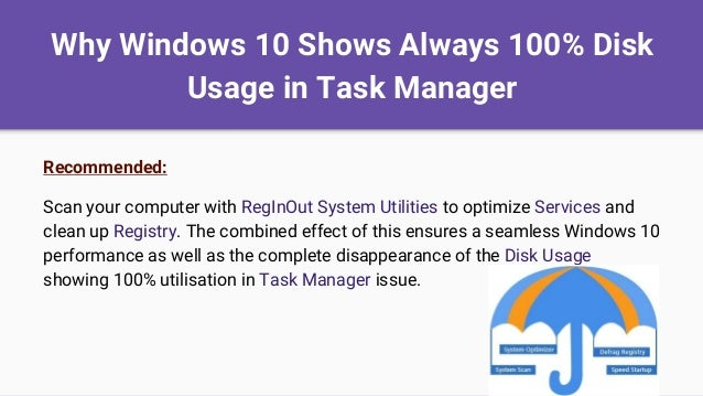 avast disk usage 100