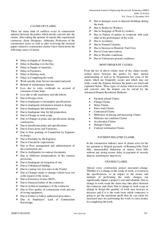 thesis on construction claims Definition, usage and a list of claim examples in common speech and literature claim is a statement essentially arguable but used as a.