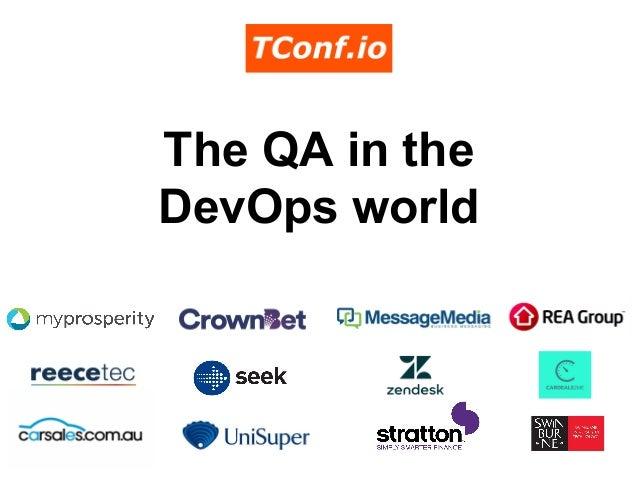 The QA in the DevOps world
