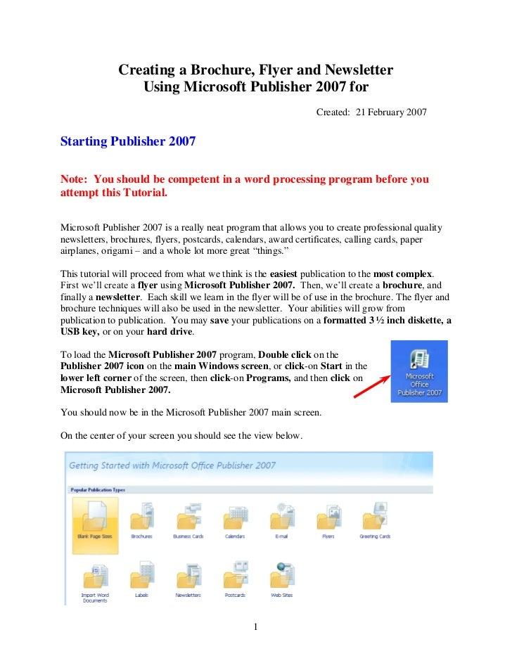 microsoft publisher flyers