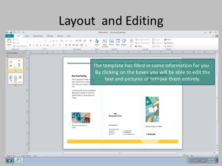 Create A Brochure With Publisher 2010