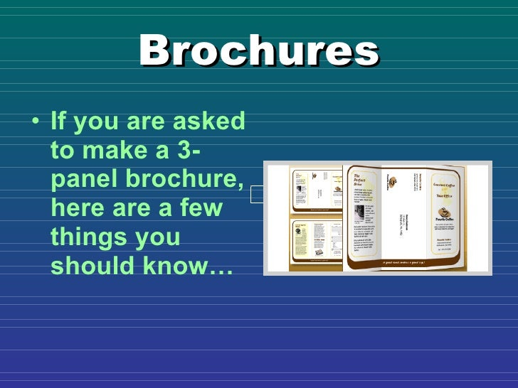 publisher brochure tips