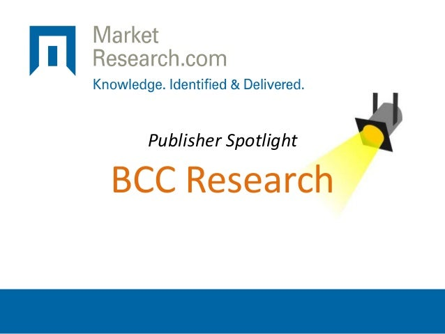 Publisher Spotlight BCC Research