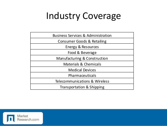 Industry Coverage Business Services & Administration Consumer Goods & Retailing Energy & Resources Food & Beverage Manufac...