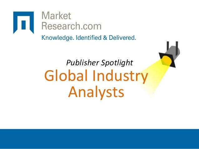 Publisher Spotlight Global Industry Analysts