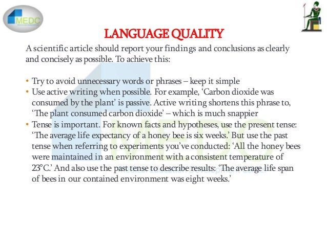 Writing and publishing your research findings example
