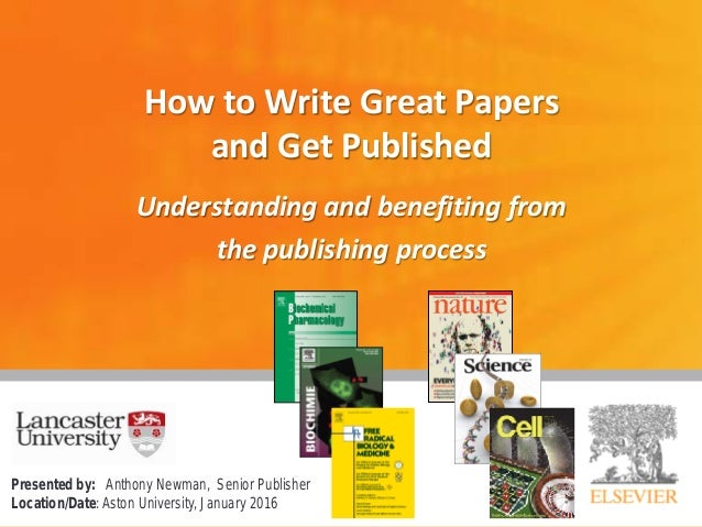 how to write papers for journals Use what you have available become skilled in using these effectively •  referees of papers in elsevier journals get 1 month personal free access to  scopus.