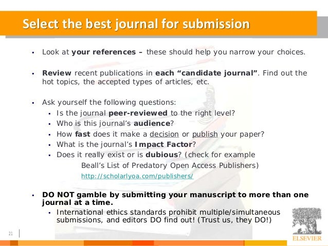 How to Write a Great Research Paper, and Get it Accepted by a Good Jo…