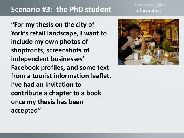 Scenario     the PhD student    For my thesis