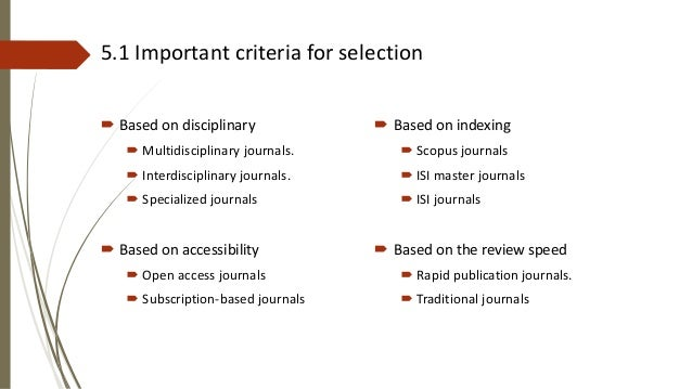 Publishing in high impact factor journals