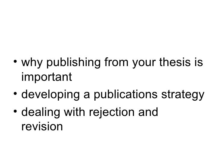 publishing journal articles dissertation My dissertation was a series of short chapters which i later converted into journal articles if your director approves of such an arrangement, there's no ethical reason why you can't rework your chapters into potential publications.