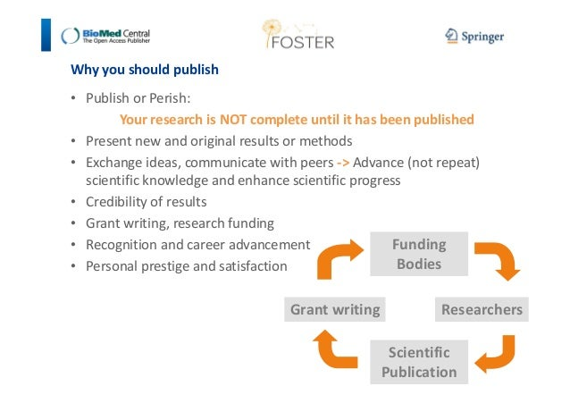 Why you should publish  • Publish or Perish:  Your research is NOT complete until it has been published  • Present new and...