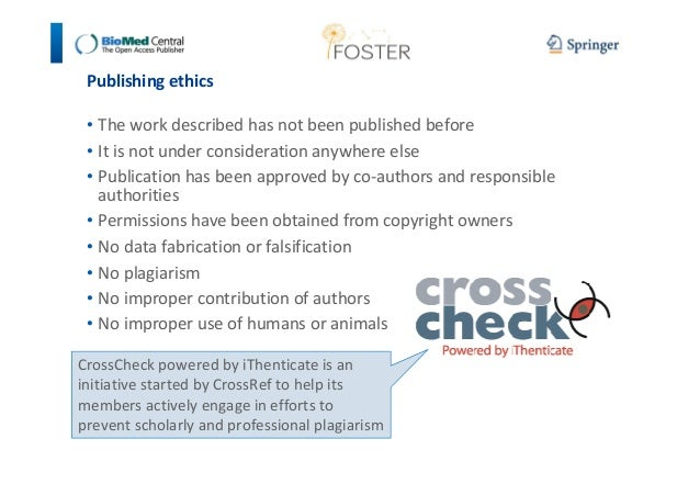 Publishing ethics  • The work described has not been published before  • It is not under consideration anywhere else  • Pu...