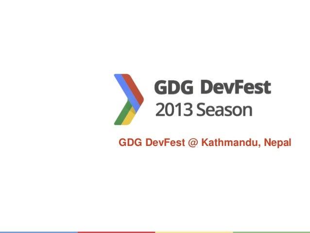GDG DevFest @ Kathmandu, Nepal