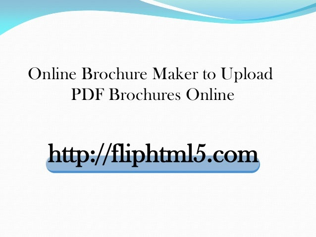 Publish online brochures that could be shared on social websites
