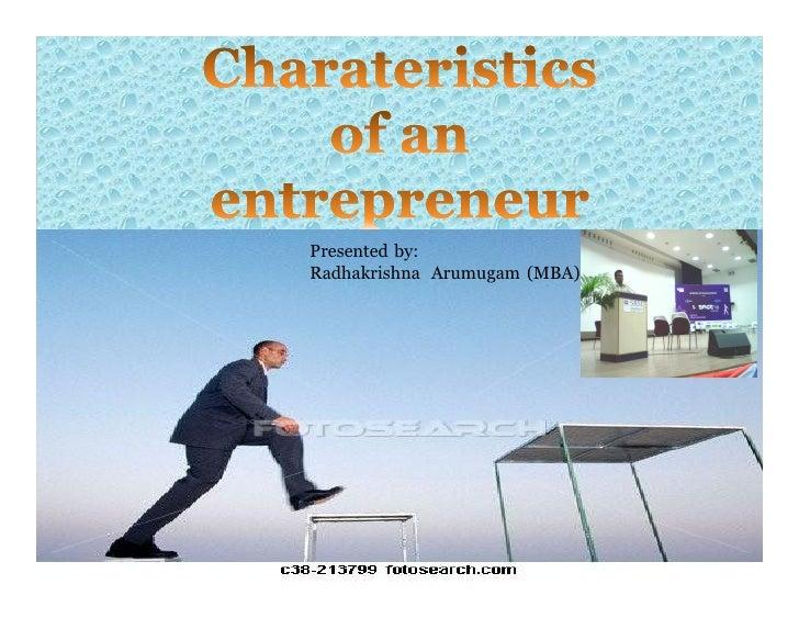 Presented by: Radhakrishna Arumugam (MBA)