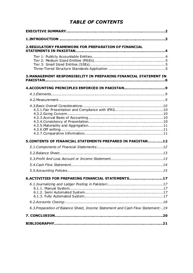 Preparation Of Financial Statements In Pakistan - Ifrs financial statements template