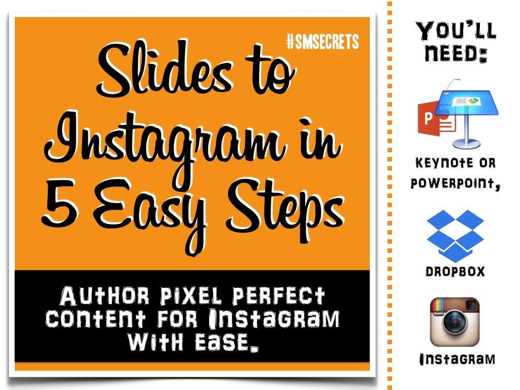 Publish slides to instagram in 5 easy steps