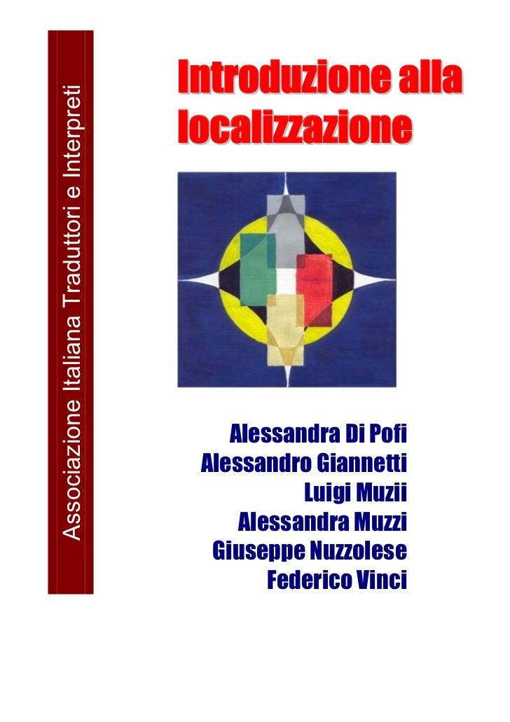 Associazione Italiana Traduttori e Interpreti                                                Introduzione alla            ...
