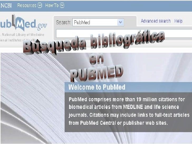 Búsqueda bibliográfica en PUBMED