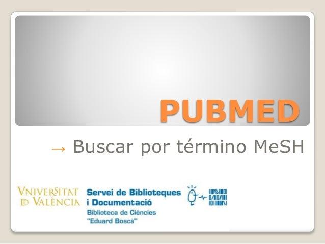 PUBMED → Buscar por término MeSH