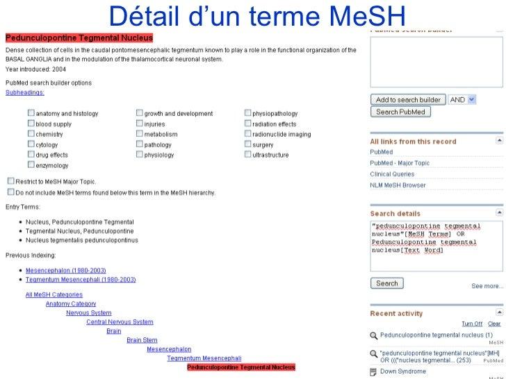 Détail d'un terme MeSH