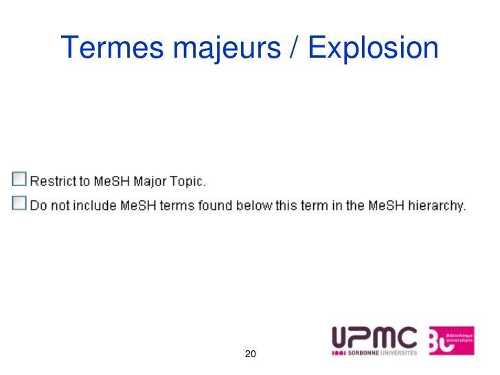 Termes majeurs / Explosion            20