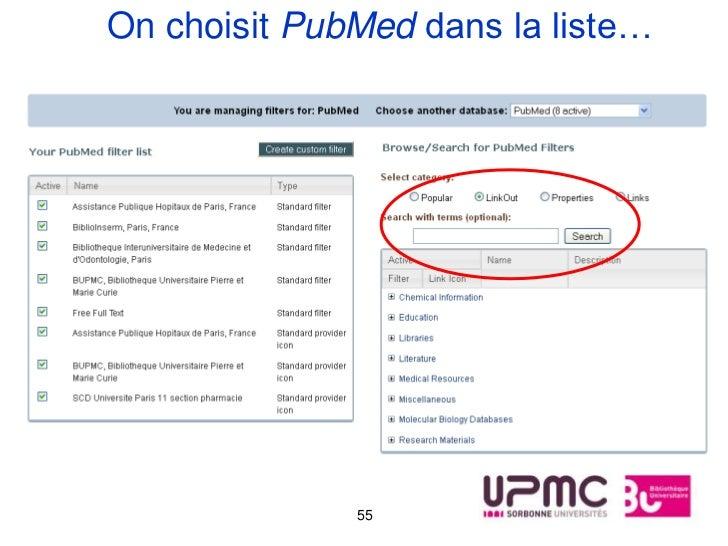 On choisit PubMed dans la liste…              55
