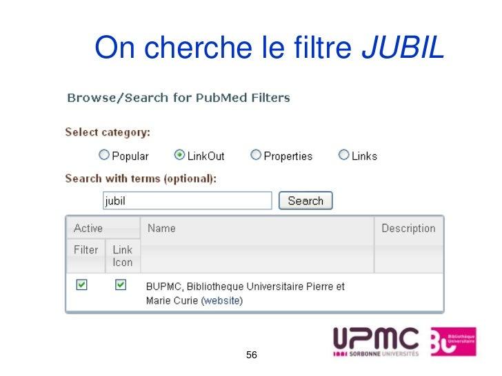 On cherche le filtre JUBIL           56