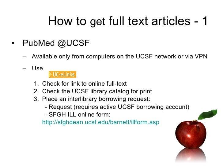 Ucsf Pubmed