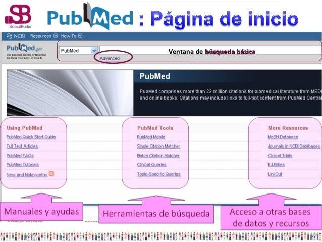 PubMed automaticamente comprueba lo que hemos escrito frente avarios índices en el orden siguiente:  Subject Translation T...