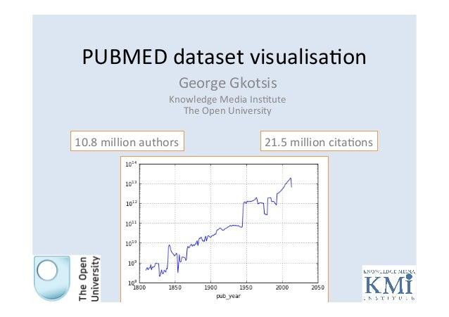 PUBMED  dataset  visualisa1on   George  Gkotsis   Knowledge  Media  Ins1tute   The  Open  University ...