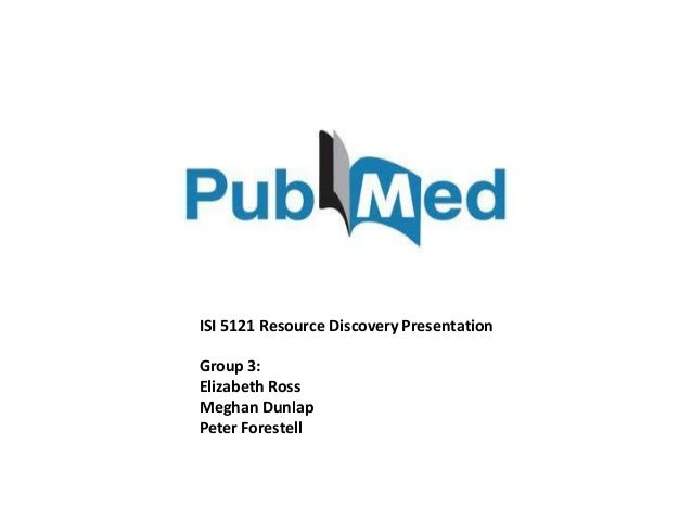 ISI 5121 Resource Discovery PresentationGroup 3:Elizabeth RossMeghan DunlapPeter Forestell