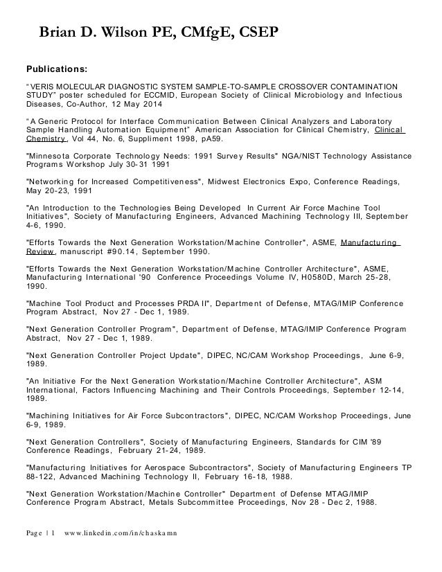 A List Of Publications And Patents