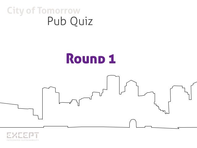 City of Tomorrow Pub quiz