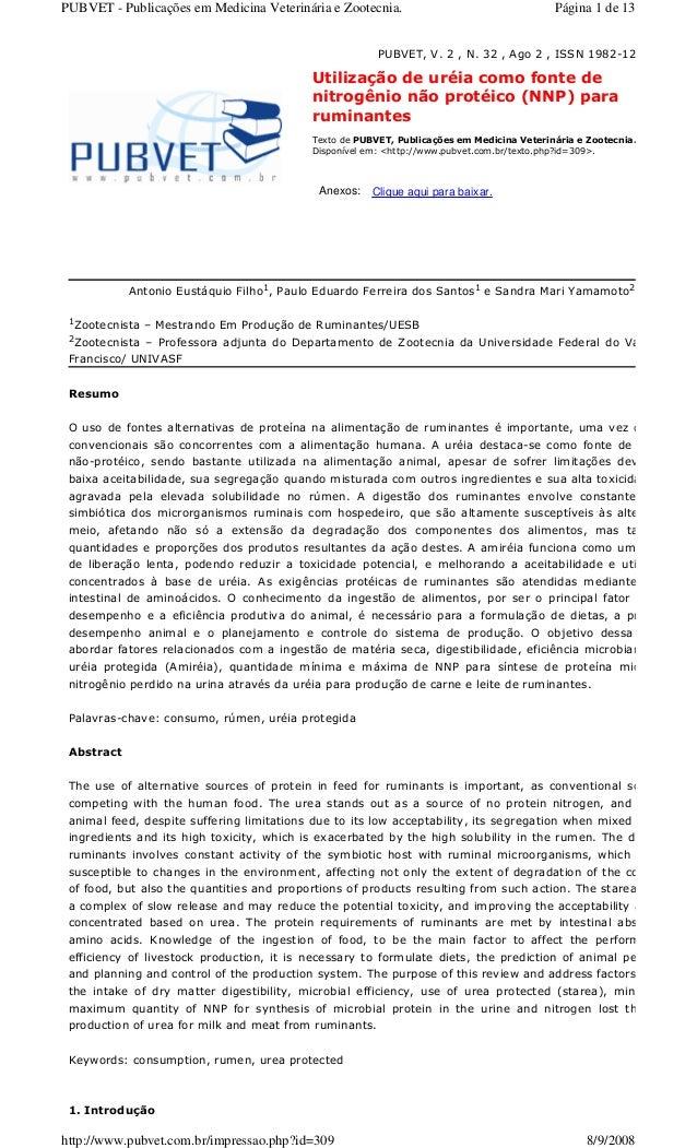 PUBVET - Publicações em Medicina Veterinária e Zootecnia.                                  Página 1 de 13                 ...