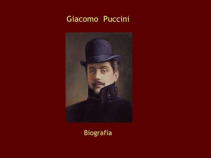 Giacomo  Puccini Biografía