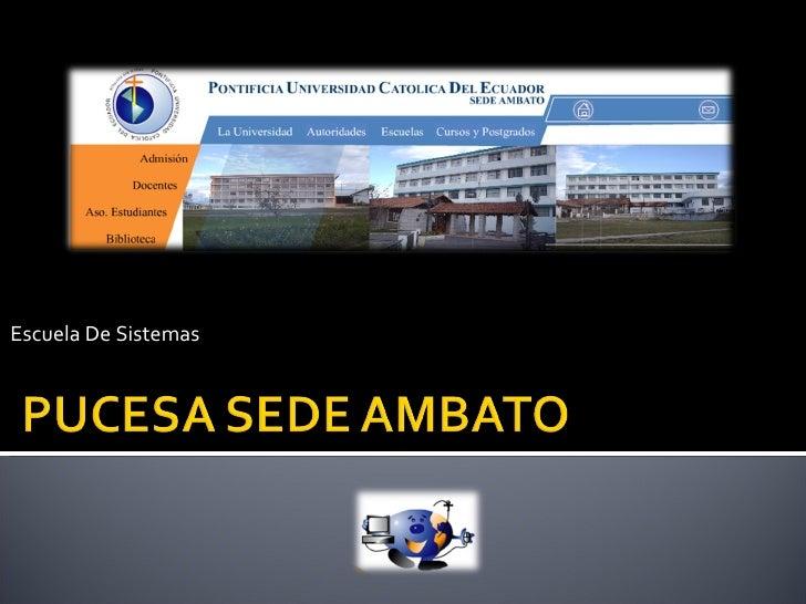 Escuela De Sistemas