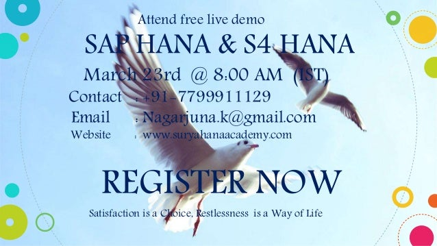 ... 3. Attend free live demo ...