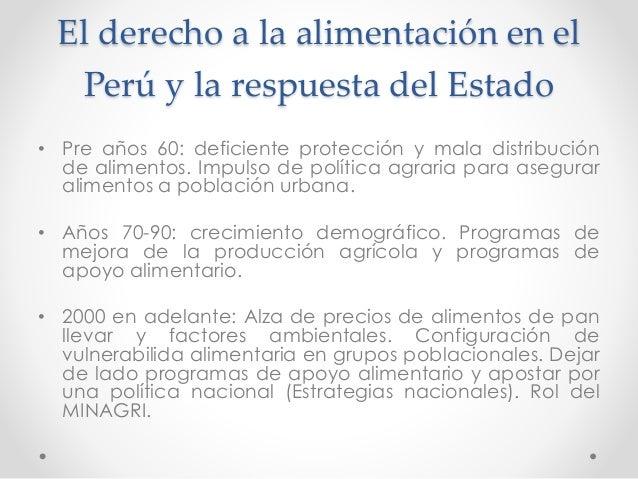 La satisfacción del derecho a la alimentación de grupos en situación de vulnerabilidad a la luz de las Directrices de la FAO Slide 3