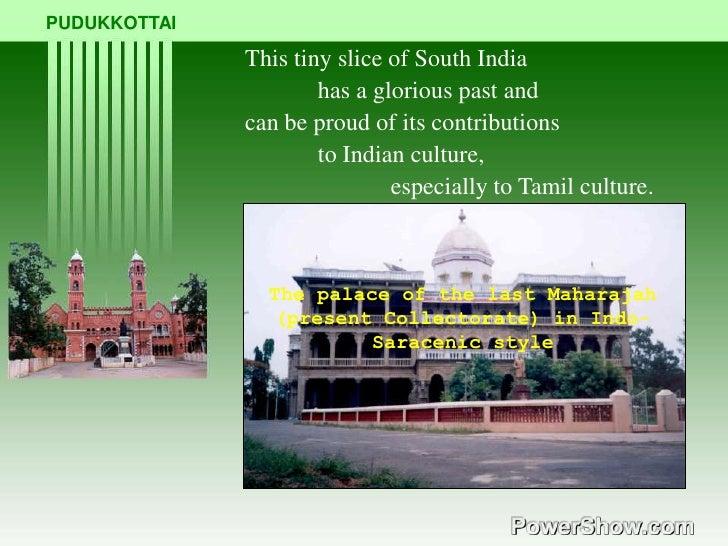 Pudukkottai - Its contribution to Tamil Culture