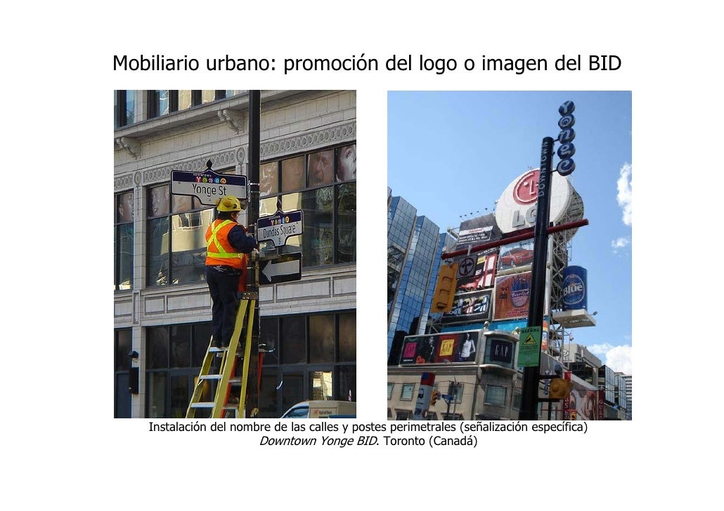 Calles comerciales business improvement districts for Mobiliario urbano definicion