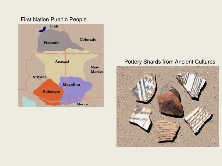 First Nation Pueblo People<br />Pottery Shards from Ancient Cultures<br />