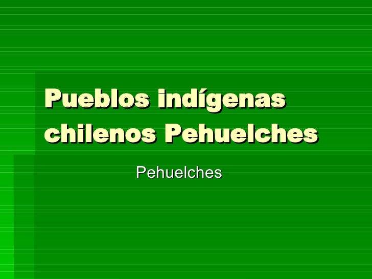 Pueblos indígenas chilenos Pehuelches Pehuelches