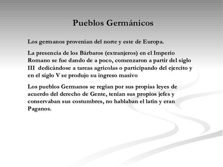Pueblos Germanos Slide 2