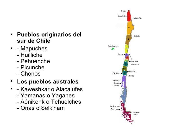 <ul><li>Pueblos originarios del sur de Chile </li></ul><ul><li>- Mapuches - Huilliche - Pehuenche - Picunche - Chonos </li...