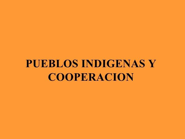 PUEBLOS INDIGENAS Y COOPERACION
