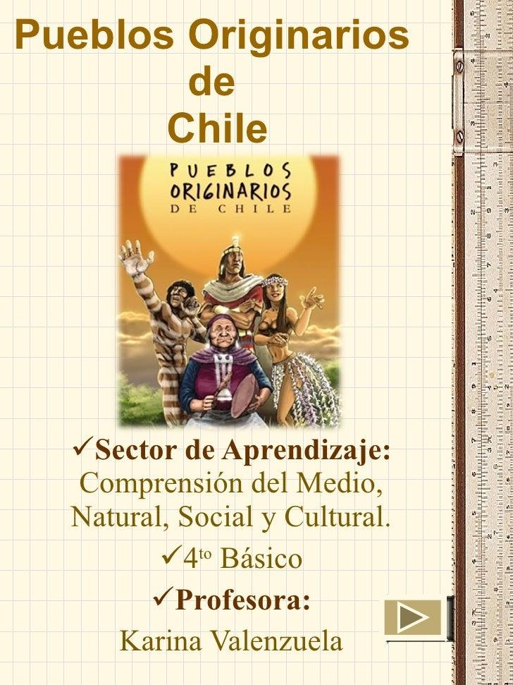 Pueblos Originarios  de  Chile <ul><li>Sector de Aprendizaje:  Comprensión del Medio, Natural, Social y Cultural. </li></u...