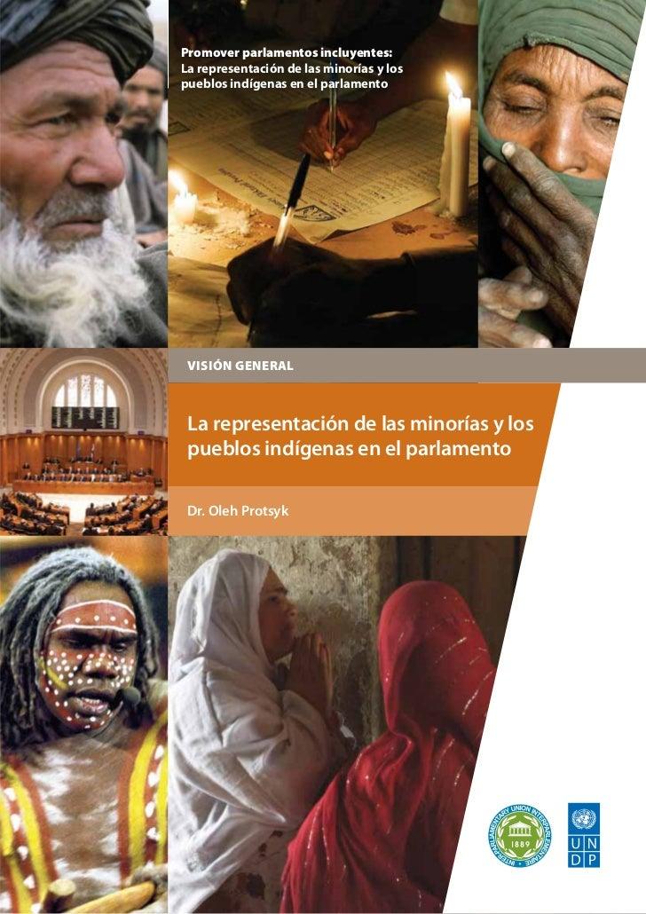 Promover parlamentos incluyentes:La representación de las minorías y lospueblos indígenas en el parlamento VISIÓN GENERAL ...