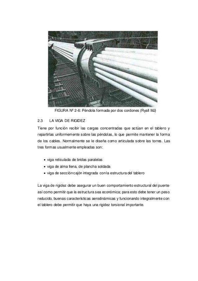 FIGURA Nº 2-6: Péndola formada por dos cordones (Ryall MJ) 2.3 LA VIGA DE RIGIDEZ Tiene por función recibir las cargas con...